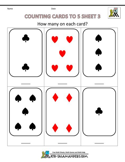 preschool counting worksheets counting