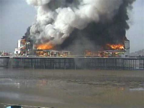 grand pier cctv fire footage youtube
