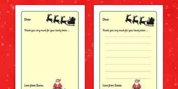 letter  santa writing frames christmas xmas letter