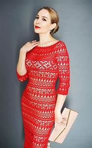 Crochet Lace Dress For Women Dolce Detailed