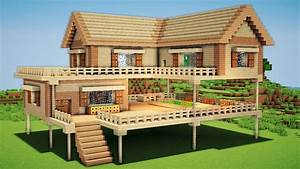 Minecraft: Large Wooden House Tutorial - How to Build a ...