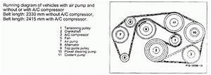 1988 Mercedes 300e L6 3 0l Serpentine Belt Diagram