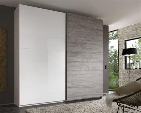 porte de chambre design armoire design 2 portes coulissantes blanc laqué gris