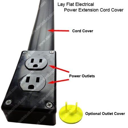 flat electrical power extension cord cover length ft