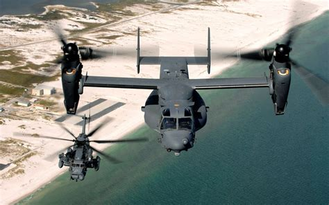 Ocean Aircrafts Sand Helicopters Buildings Osprey V22 Osprey 2560x1600 Wallpaper