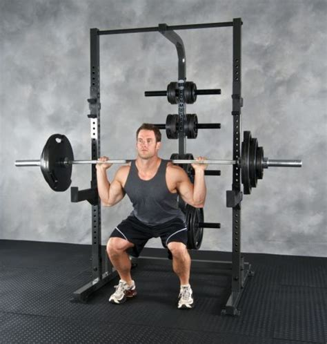 weight lifting rack squats half system squat weights ironmaster exercise using most basic olympic traditional