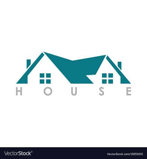 home roof logo royalty  vector image vectorstock
