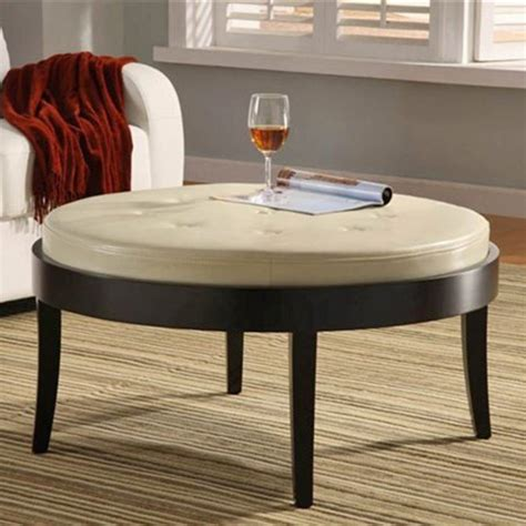 round ottoman coffee table furniture coffee table luxury leather coffee table round