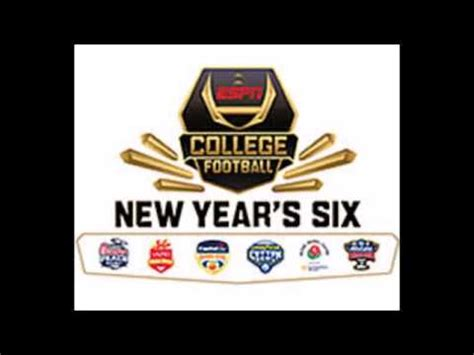 20172018 New Year's Six Bowl Game Matchups! Youtube