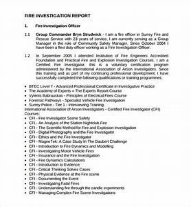 14 investigation report templates sample templates for Fire investigation template
