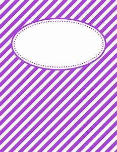 free printable purple diagonal stripe binder cover
