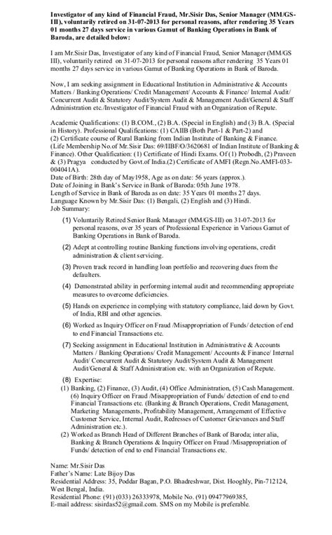 retired bank manager resume format can on on the