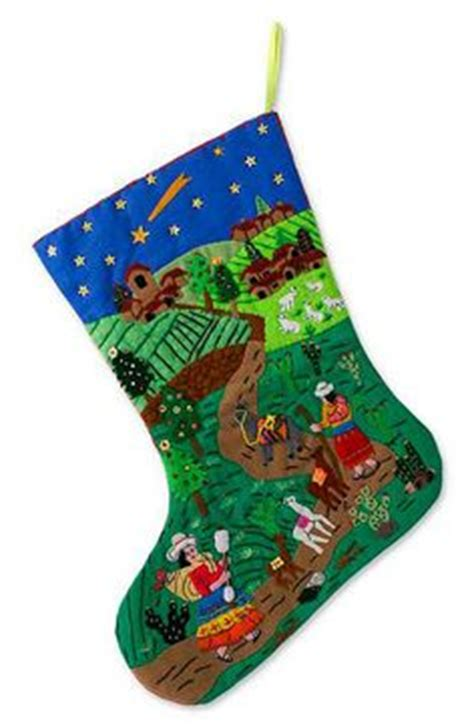 christmas   andes applique christmas stocking