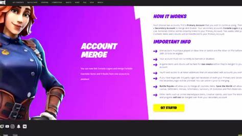 merge  fortnite account step  step ps