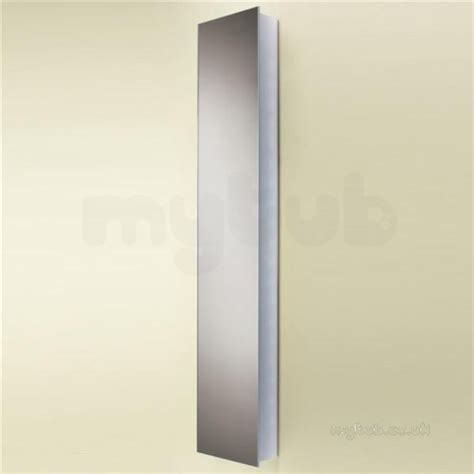 Mercury Tall Bathroom Cabinet Double Sided Mirrored Doors