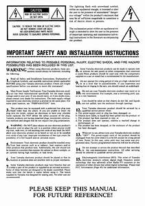 Important Safety And Installation Instructions  Please