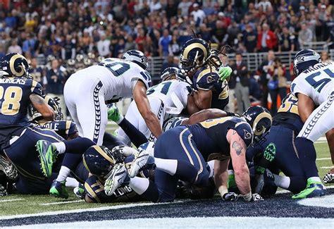 seahawks  rams historical highlights  series