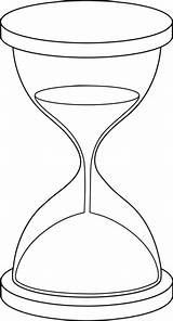 Hourglass Sand Drawing Clock Coloring Clip Line Pages Tattoo Drawings Printable Graphic Vector Lineart Outline Hour Illustration Clipart Sketch Sweetclipart sketch template