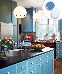 12 kitchen cabinet color combos that really cook this With kitchen cabinet trends 2018 combined with wall relief art
