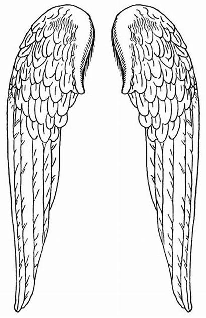 Wings Angel Printable Cliparts Clip Pattern Coloring