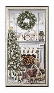 Timeless, Treasures, White, Christmas, Metallic, Christmas, Mantel, 23, U0026quot, Panel, Cream