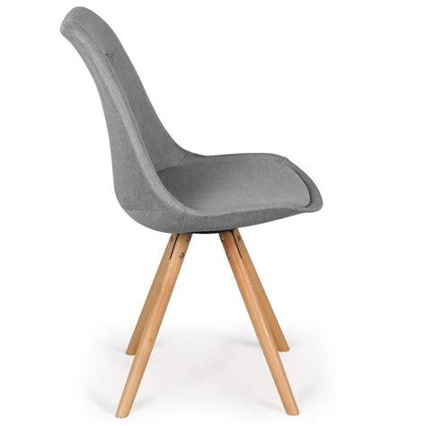 lot de 4 chaises chaises scandinaves ida tissu gris lot de 4 pas cher scandinave deco