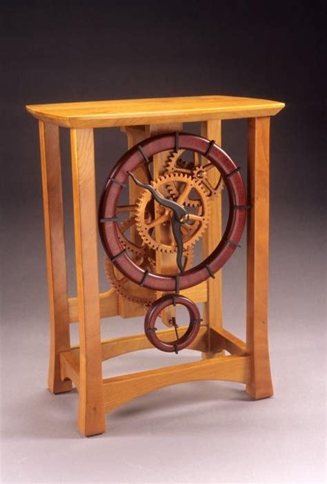 wooden gear clock plans  woodworking projects plans workshop   wooden