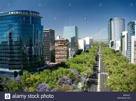 Paseo De La Reforma, Mexico City, Mexico Stock Photo
