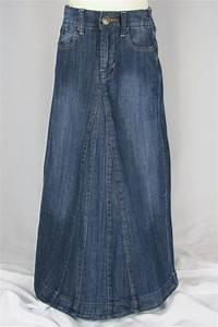 Long Jean Skirts For Girls - Redskirtz