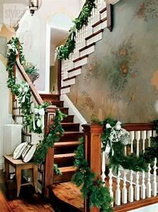 Dcoration De Nol Maison 71 Ides Pour Le Dcor Escalier