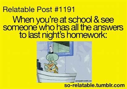 Relatable Funny Homework Quotes Teen Spongebob Gifs