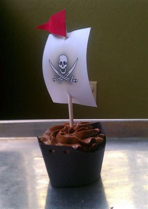 pirate ship cupcake wrapper making  sweet
