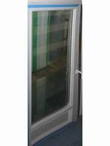 porte fenetre pvc blanc vitree soubassement hauteur 215x80 With porte fenetre pvc avec chatiere