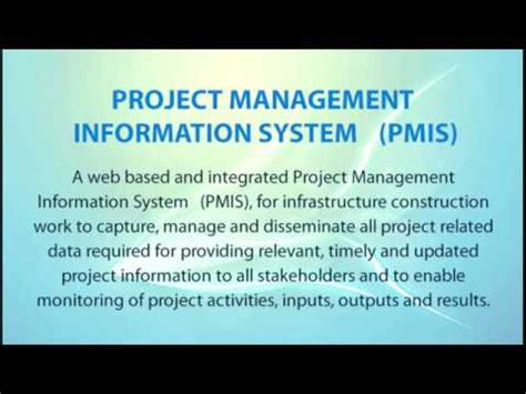 project management information system pmis