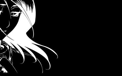 Black And White Anime Wallpaper Hd - kuchiki rukia black anime vectors
