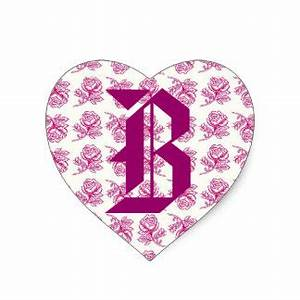 letter b stickers zazzle With pink letter stickers