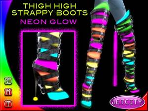 Second Life Marketplace JETCITY Thigh High Strappy