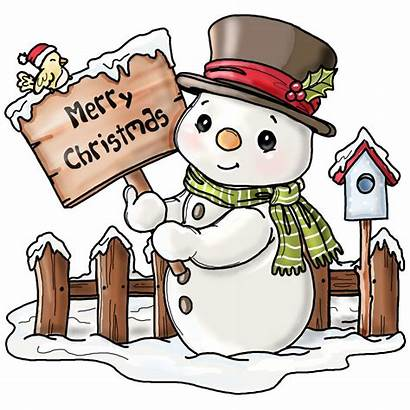 Christmas Snowman Clipart Clip Merry Drawing Rock