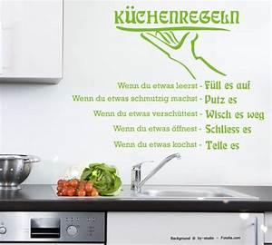 Wandtattoo Küche Bilder : wandtattoo wandaufkleber k che k chenregeln regeln sunnywall online shop ~ Sanjose-hotels-ca.com Haus und Dekorationen