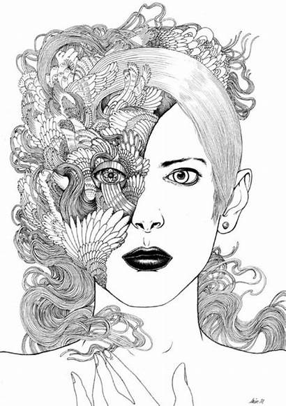 Coloring Pages Zentangle Adult Macarthur Iain Hair