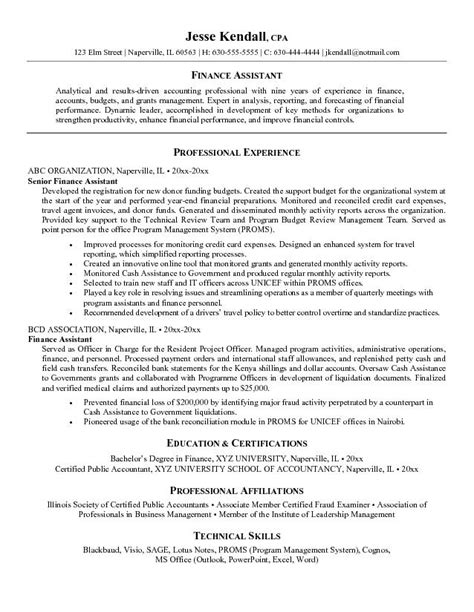 Sle Resume For Accounts Executive by Assistant Manager Restaurant Resume Exle 7 Assistant