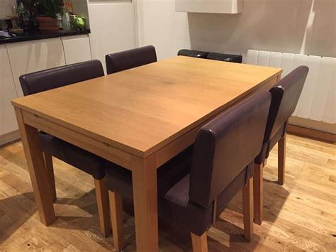 Ikea Bjursta Extendable Wooden Dining Table In Oak Veneer