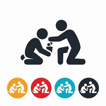 Icon Homeless Giving Vector Samaritan Illustrations Clip