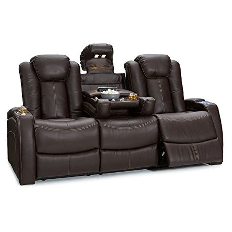 Power Recliner Deals by Seatcraft Republic Leather Home Theater Seating Power