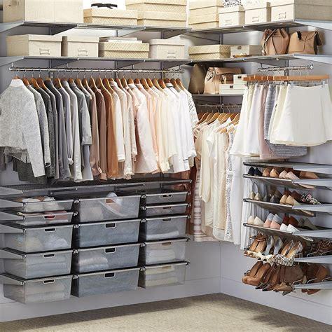 platinum elfa walk  closet  container store