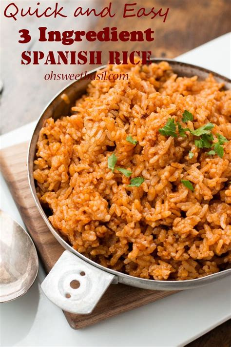 quick  easy  ingredient spanish rice recipe