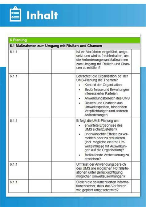 audit checkliste umweltmanagement iso  emas