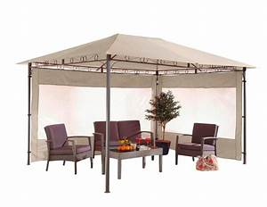 Pavillon Für Garten : pavillon orinoco 3x4m sand gartenpavillon terrasse garten ~ Michelbontemps.com Haus und Dekorationen