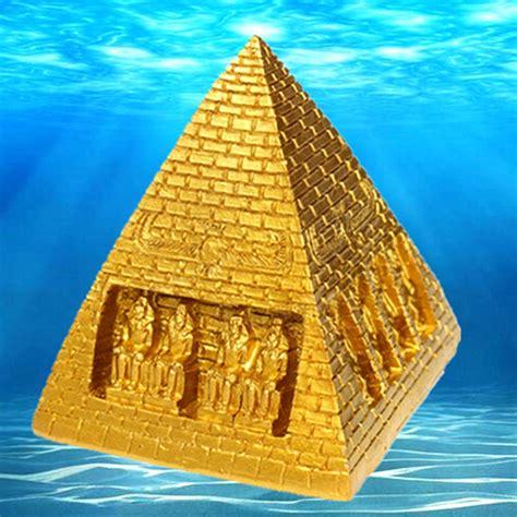 28 fish tank egyptian pyramid ornament egyptian