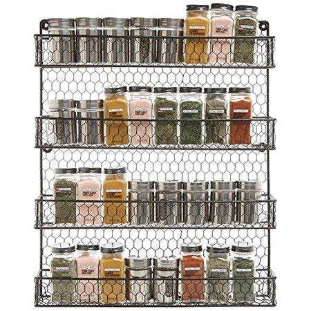 Metal Wall Spice Rack by Metal Spice Rack Kitchen Wall Mount 4 Tier Metal Wire